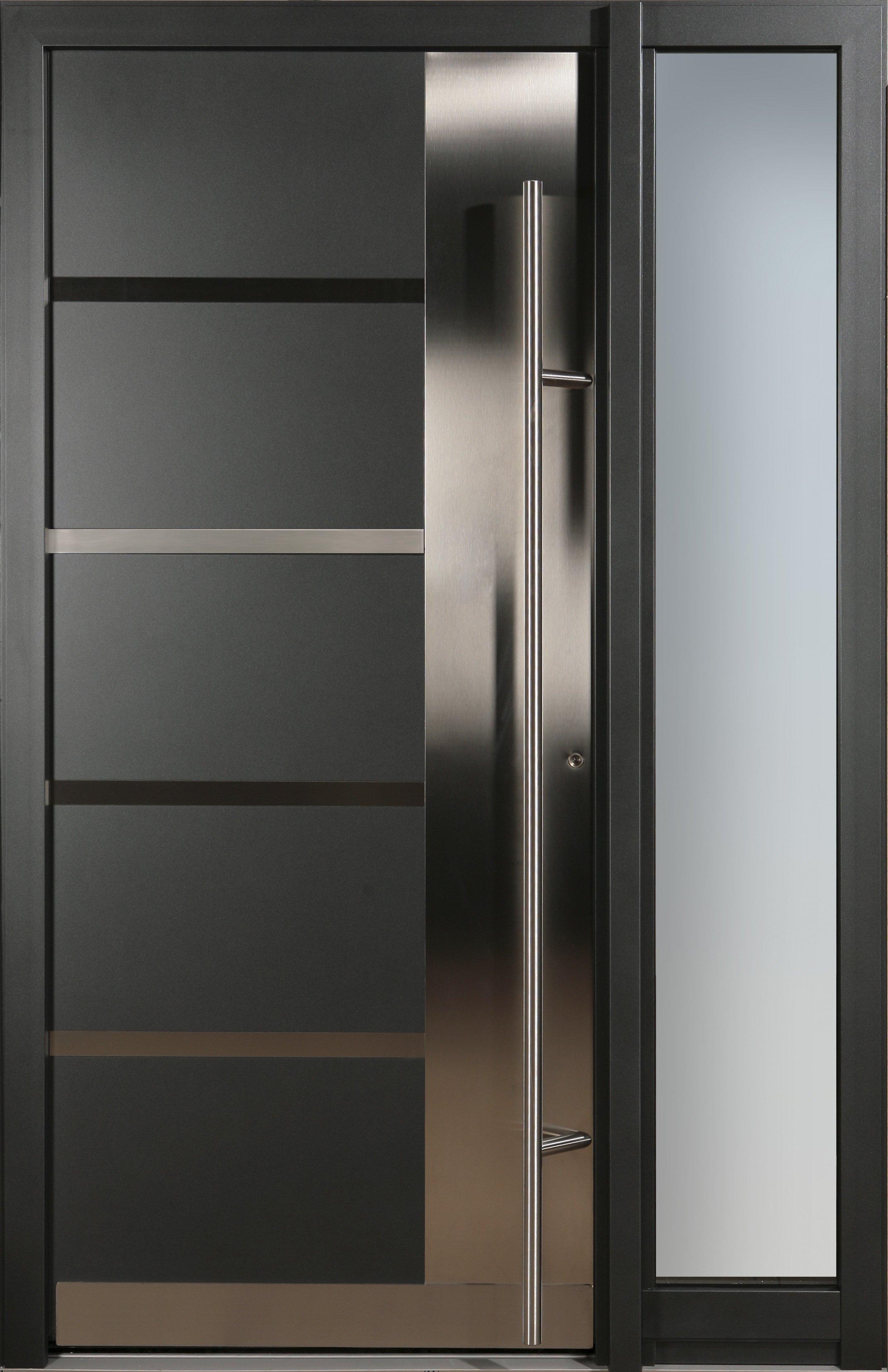 Porte d ingresso in alluminio e pvc alluminio tecnofinestra for Puertas de acceso principal